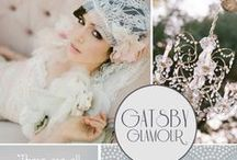 The Great Gatsby Wedding / If you love all the glitz & glamour of The Great Gatsby you'll love this wedding theme...