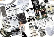Black & White Wedding / Wedding ideas with a modern monochrome and geometric theme for those stylish brides-to-be! Introduce black and white into your invitations, reception decor, theme and more...