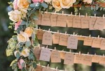 Seating plan ideas / From fun to romantic, rustic to vintage, DIY chalkboard to black to white! Find your wedding seating plan inspiration here!
