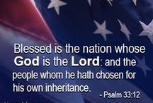 "ONE NATION UNDER GOD / 2 Chronicles 7 : 14....""If my people which are called my by name, shall humble themselves, and pray, and seek my face, and turn from their wicked ways; then will I hear from Heaven, I will forgive their sin and I WILL HEAL THEIR LAND."" / by Susan Ayer"