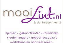 """www.mooilint.nl / Vervaardigd door """"Mooi Lint"""""""