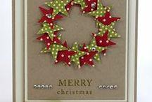 Weihnachtskarten / Stempeln & Stanzen