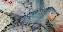 Stitchery / reclaimed textiles, paper and haberdashery... embroidery, mixed media collage and applique