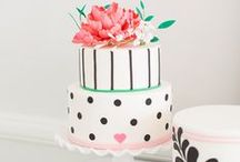 Wedding Cakes / So many beautiful designs, flavors - each wedding cake is a visual, delicious treat and work of art