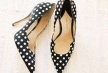 Black & White Polka Dots / polka dots in black and white (and pink and gold too!)