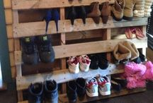 Pallet storage / Shoe rack pallet