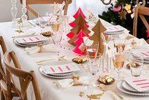 Inspiration Tables de Fêtes / Une sélection d'idées et #astuces pour sublimer votre table de #fêtes.