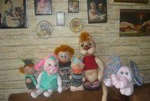Hopsafráček, čepička, oko, nosík, hlavička. / Ručně šité panenky, zvířátka, různí skřítkové a tak podobně. :)