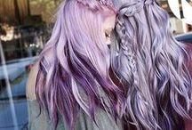 Hairstyles / Hairdo  Estoy taaaan traumada con los flecos...  Los colores, el cabello largo y alborotado como mi corazón... aunque todos me digan que no...