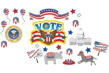 Voting / Elections Theme / Voting & Elections bulletin boards and accessories.