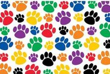 Paw Prints Theme / Paw Print bulletin boards and accessories.