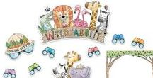 Safari Friends Theme / Be wild about safari with Safari Friends by CTP. Have your room ready to explore with trimmers, bulletin board sets and more.