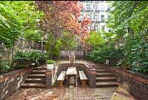 Townhouse Gardens / Beautiful townhouse gardens! At Vandenberg, our sole focus is selling #townhouses and #brownstones in New York City, NY. We are long-time experts in guiding you through the complexities of townhouse sales and purchases.