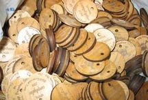 Laser Engraved Coins / We make custom coins from wood and plastic with your design/logo to your specifications