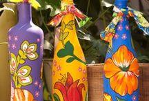 butelki wazony pojemniki