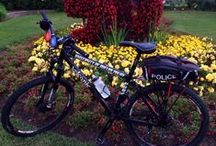 Our police cruisers and bikes / How we get around campus!