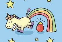 Unicorns. Because I need help.