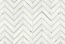 Collection: Chevron / The classic chevron pattern is a staple within the world of design.  New Ravenna is an American mosaic studio working in stone and glass and offers ready-to-ship chevrons along with custom made to order chevrons in both glass or stone.  For more ideas visit www.newravenna.com.