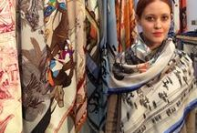 Cashmere Wool Silk Scarfs / Accessorize any outfit with a luxurious Rani Arabella Cashmere Wool Silk Scarf made in Italy.