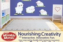 Mixable Murals Bedroom and Playroom Non-toxic Wall Sticker Idea Kits. / Mixable Murals are non-toxic wall sticker idea kits for interactive decorating and inspiring creativity in kids.