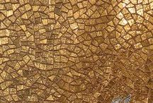 Material: Gold / New Ravenna is an American mosaic studio collaborating on custom mosaic stone and glass tile with designers & architects everywhere. http://www.newravenna.com.