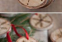 vianočné drevo
