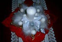 Vánoční dekorace, věnce, svícny / Moje vánoční  zdobení domova