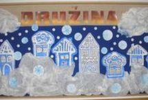 Zima v naší družině / nástěnky, výzdoba a výtvory v mém oddělení