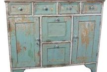 Cabinets, Cupboards & More Antique Furnishings / by Diane Shellenberger