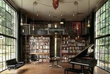 Book / Own, private library, place with fireplace or home bar, secret wine cellar, butlery, handsome place in home, men room ideas, map room, play room, luxury with leather furniture, sexy.