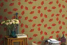 Oranje behang