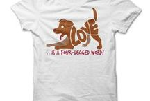 Dog Lover T-Shirts / Tees for Dog Lovers. Custom and one-off tee designs quickly printed - info@theteemerchant.com