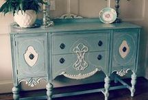 Shabby Chic / Inspiration of paint technique.
