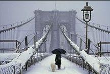 walking in a winter wonderland / un hiver au pays des merveilles / City Chistmas. Magical winter on the earth under the snow § Un hiver magique sur la terre sous la neige