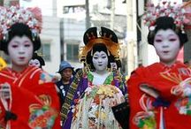 Japan Travel, Textiles and Traditional Dress / Inspiration for Travel, Textiles and Traditional Dress in Japan