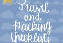 Travel and Packing Checklists / Make your Travel Planning easier. There helpful Checklists can only make your life easier, before and during your travels. (Travel Checklists, Packing Checklists, Travel Checklist Printables, travel checklist printable check list)