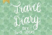 Travel Diary DIY and Ideas / Travel Diary, Travel Diary DIY, Travel Diary ideas, Travel Diary Travellers notebook, Travel Diary Cover