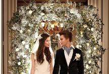 Twilight Breaking Dawn - Wedding Style Inspiration Board / Edward and Bella, vampire wedding, sartorial style, deep reds, bright whites, sparkling, elegant... wedding inspiration from Surrey wedding venue Nonsuch Mansion