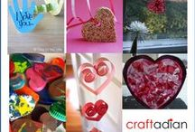 Valentines day crafts / A round-up of fun and easy DIY crafts for Valentine's Day