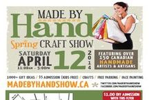 Spring MADE BY HAND SHOW 2014 / This board showcases exhibitors and items that you can find at the Spring Made by Hand Show which will be on April 12, 2014 at the International Centre in Mississauga.   #madebyhandshow