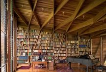 Libraries and bookshelves