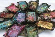 Needlework: Fibers & Textiles / Creative Fibers & Textile Arts, Wall hangings, Mixed Mediums, Yarn & Wood and weavings / by Lennie Barnes