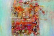 Abstract Inspired / I've fallen in love with abstract painting.  This is what inspires my next work. / by Michele Pietrzak