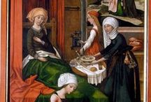 Medieval domestic life, clothing and furniture