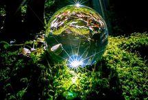 Zeep, lucht en waterdruppels / Reflektie's