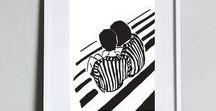 Sigaluna - Wall art print / Wall art, Prints, Print, Illustrations, Minimalist art, Original illustration, Original drawing, Digital art, Posters, Black and white posters, Graphic illustrations, Graphic art
