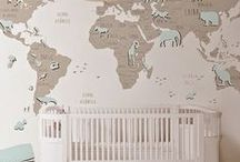Kinderkamer met wereldkaart / ideeen en accessoires voor een jongenskamer