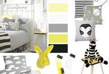 Gele kinderkamers / Kinderkamer inspiratie geel
