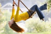 Swings / Feet off the ground, wind in your hair and a smile on your face...what more can you ask for. / by Sandy Martin