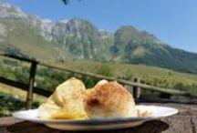 Hrana / Različne jedi, ki jih ponujajo gorske koče. Recepti, da si lahko jedi pripravite tudi doma.